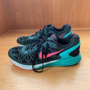 Nike lunar glide running sneakers bright 9.5